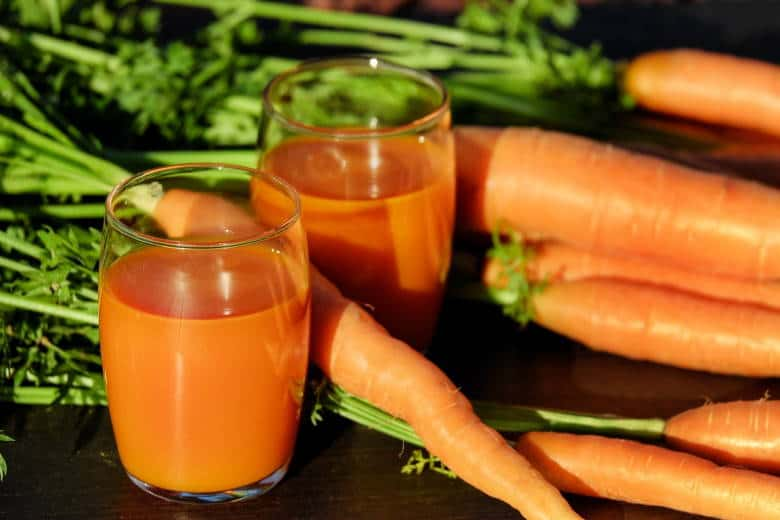 carrots beta carotene